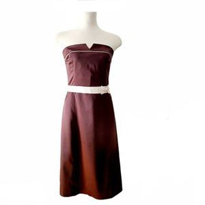 Vintage RW&CO. Brown Strapless Cocktail Dress